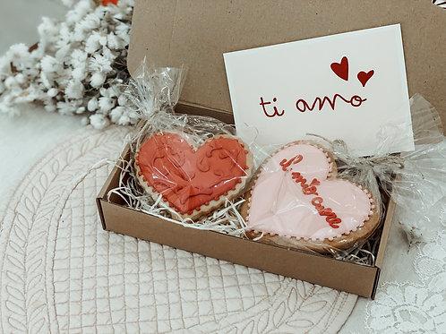 Ti Amo pack de 2 galletas