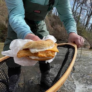 A rare glimpse of the mighty Bo Jangler himself, harvesting fresh Bojangler sandwiches straight from the water. Nature is healing. #BojanglerSeason
