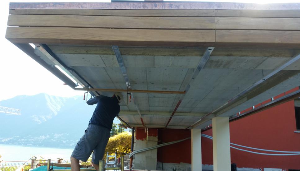 Work in progress soffitto esterno