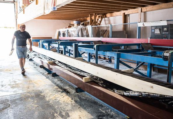 Taglio automatico del legn
