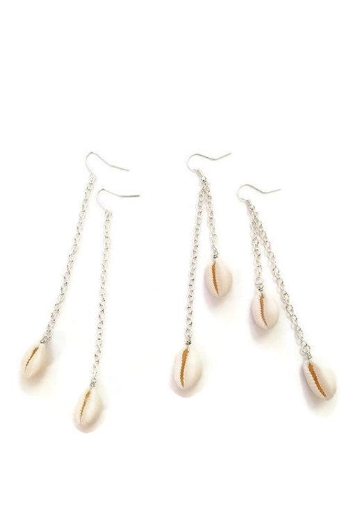 Cowrie Shell Dangly Earrings