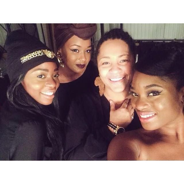 Pictured: Me (Karina) models (UK Black Rose) and make-up artist