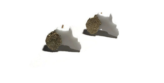 GOLD LEAF MINI MOTHERLAND STUDS