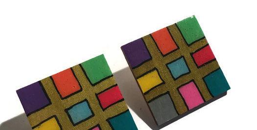 Square Geometric Studs