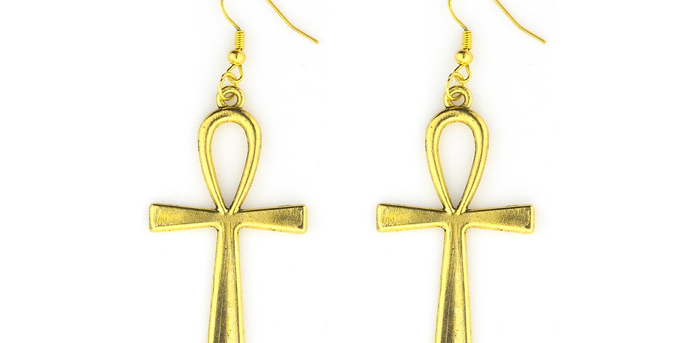 "Gold or Silver Ankh ""key of life/unity"" Earrings"