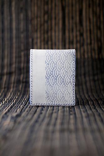材料包: 青海波短銀包 (擦蠟藍)