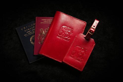 中指護照夾行李牌套裝 NiHao Passport Case + Luggage Tag Bundle