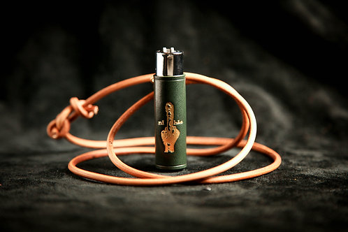 中指皮革火機套形收納器 NiHao Leather Lighter Stash