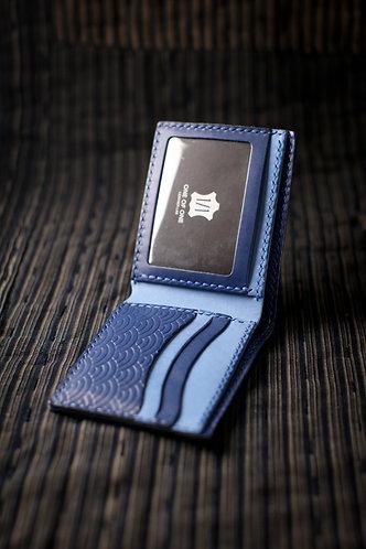 材料包: 青海波短銀包 (軍藍拼淺藍)