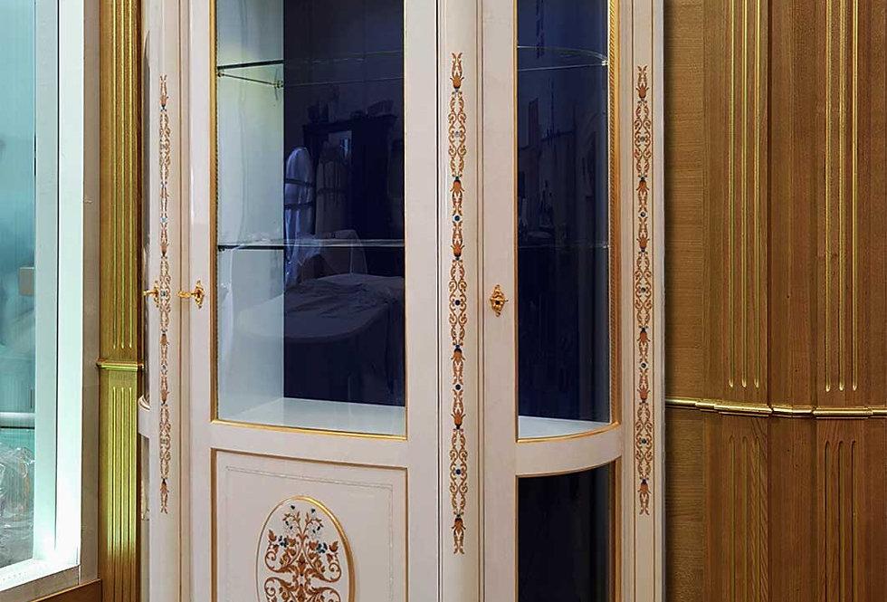 R104CST-1 - Cristalliera intarsiata - Inlaid glass case