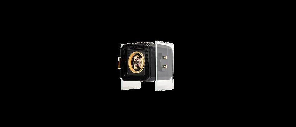 Automatic Watch Winder Maurizio Time Box, single unit, in finishing black carbon fiber. Watch Winder Case for Rolex. Porta Orologio Automatico Maurizio Time Box, singolo, in finitura nera fibra di carbonio. Porta Orologio per Rolex.