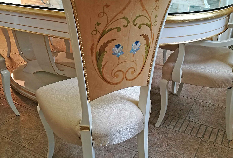 R110S - Sedia Imbottita/ Intarsiata -  Chair Inlaid and padded