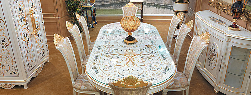 R102 - Tavolo in Erable Bianco - Table in White Erable