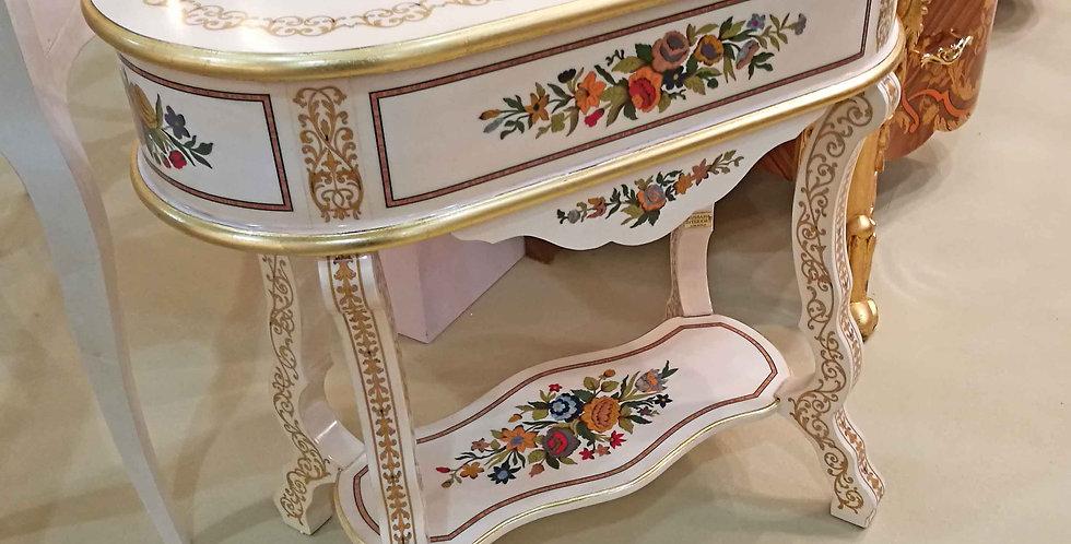 R112 - Mobiletto Ovale intarsiato - Small oval Furniture