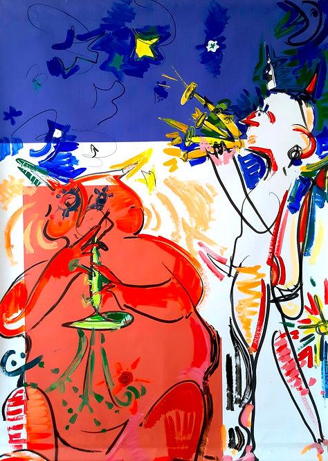Dipinto Jazz Intero