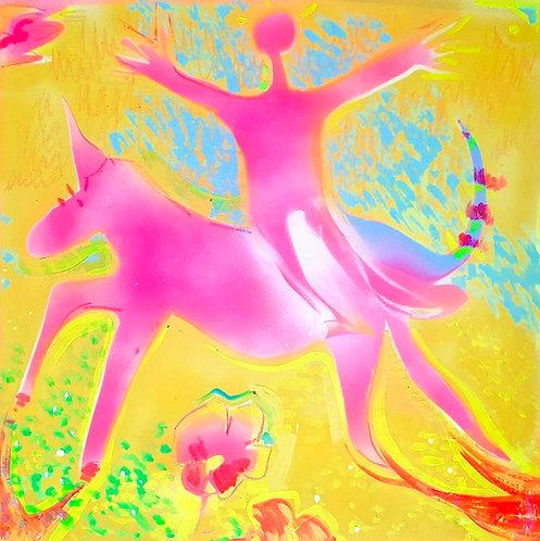 Dipinto Unicorno Earth's Spirits intero