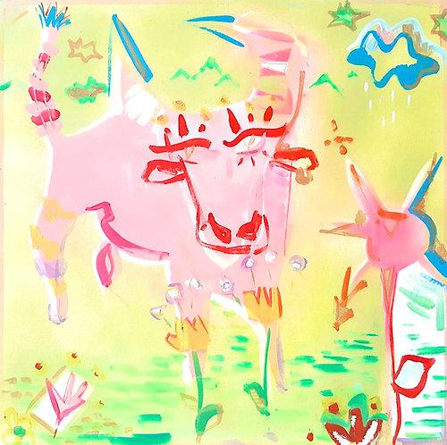 Dipinto Toro Earth's Spirits intero