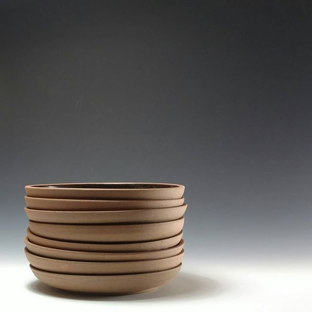 Stoneware plates__#ceramics #pottersofinstagram #pottery #washingtondc #wheelthrown #plates #tablewa