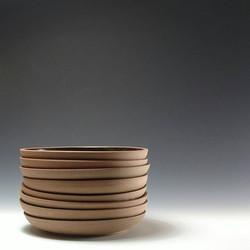 Stoneware plates__#ceramics #pottersofinstagram #pottery #washingtondc #wheelthrown #plates #tablewa