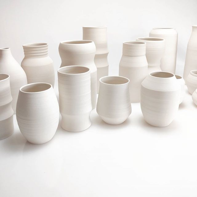 I'll be showing these new porcelain vases this weekend at 2 events