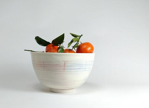 Rainbow Pattern Ware Large Bowl