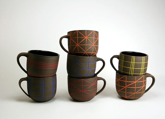Dark Clay Pattern Ware Mug