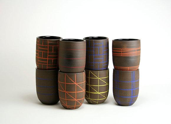 Dark Clay Pattern Ware Tall Tumbler