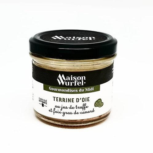 Terrine d'Oie au jus de truffe et foie gras de canard