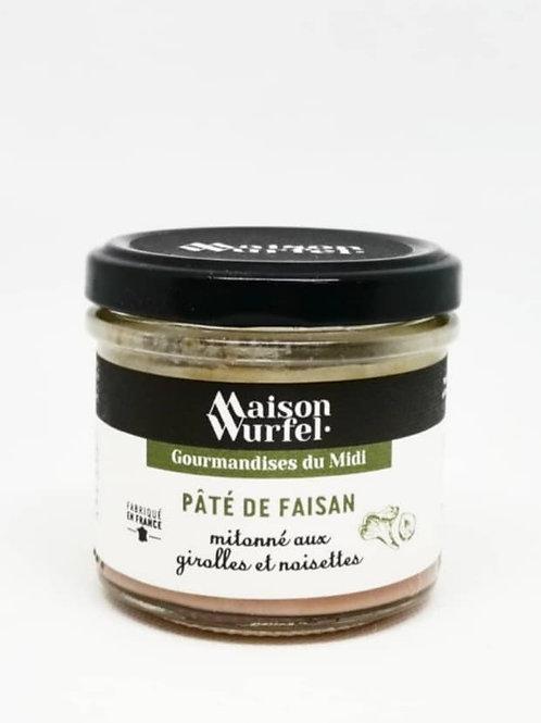 Pâté de Faisan mitonné aux girolles et noisettes