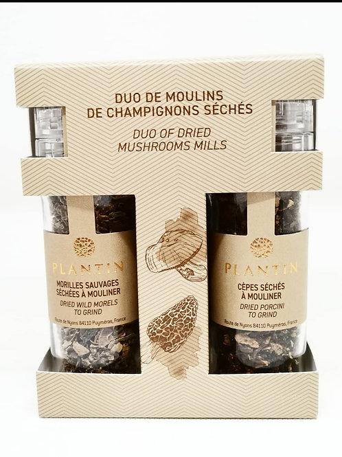 Duo de Moulins Champignons séchés