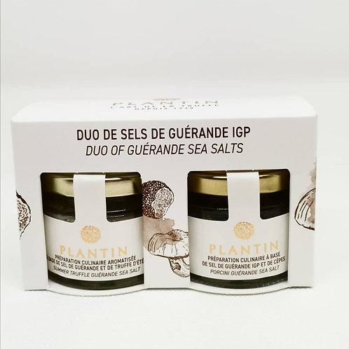 Duo de sels de Guérande Truffes/Cèpes