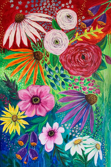 Happy Spring - Available at Plum Bottom Gallery, Egg - Harbor WI - SOLD