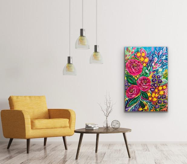 Happy Blooms - Room View - $400