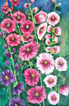 HollyHocks - Available at Plum Bottom Gallery, Egg Harbor, WI
