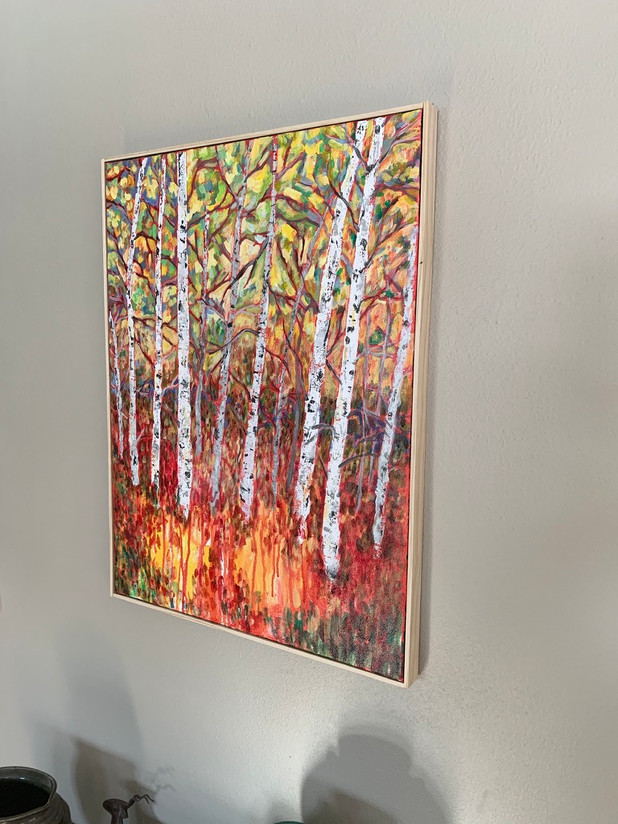 Birch Trees - Framed - $225