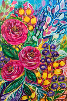 Happy Blooms - Available at Plum Bottom Gallery, Egg Harbor WI