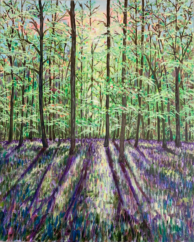 SOLD - Enchanted Lavender Woodland