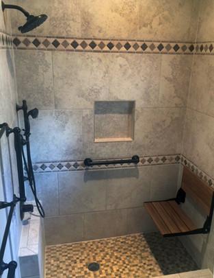 ADA Accessible Shower Installation