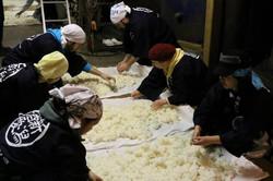 Niigata SAKE Lovers 繋ぐ かたふね 仕込み体験合宿 蒸米放冷