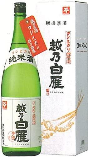 越乃白雁 純米コシヒカリ1800ml