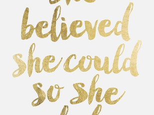 'She Believed She Could So She Did' poster by FleurtPrintables / Scandinave