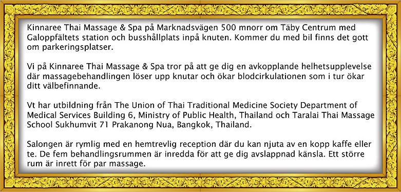 Beskrivning om Kinnaree Taimassage & Spa