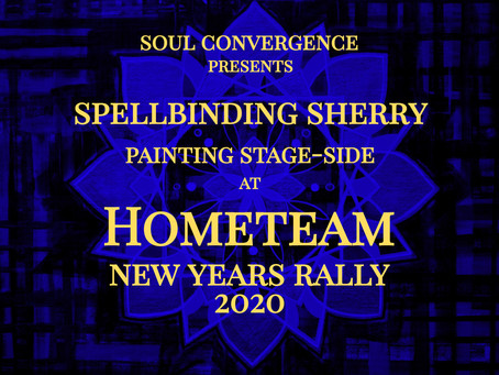Painting stageside at Hometeam New Years Rally