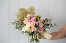 Bride bouquet with feather