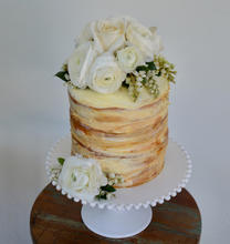 Flower Wise White Wedding Cake