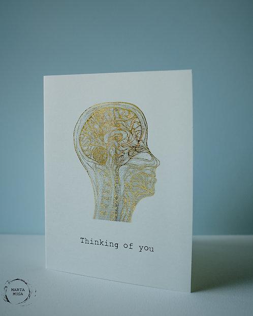 Thinking of You - Punny Anatomy Card