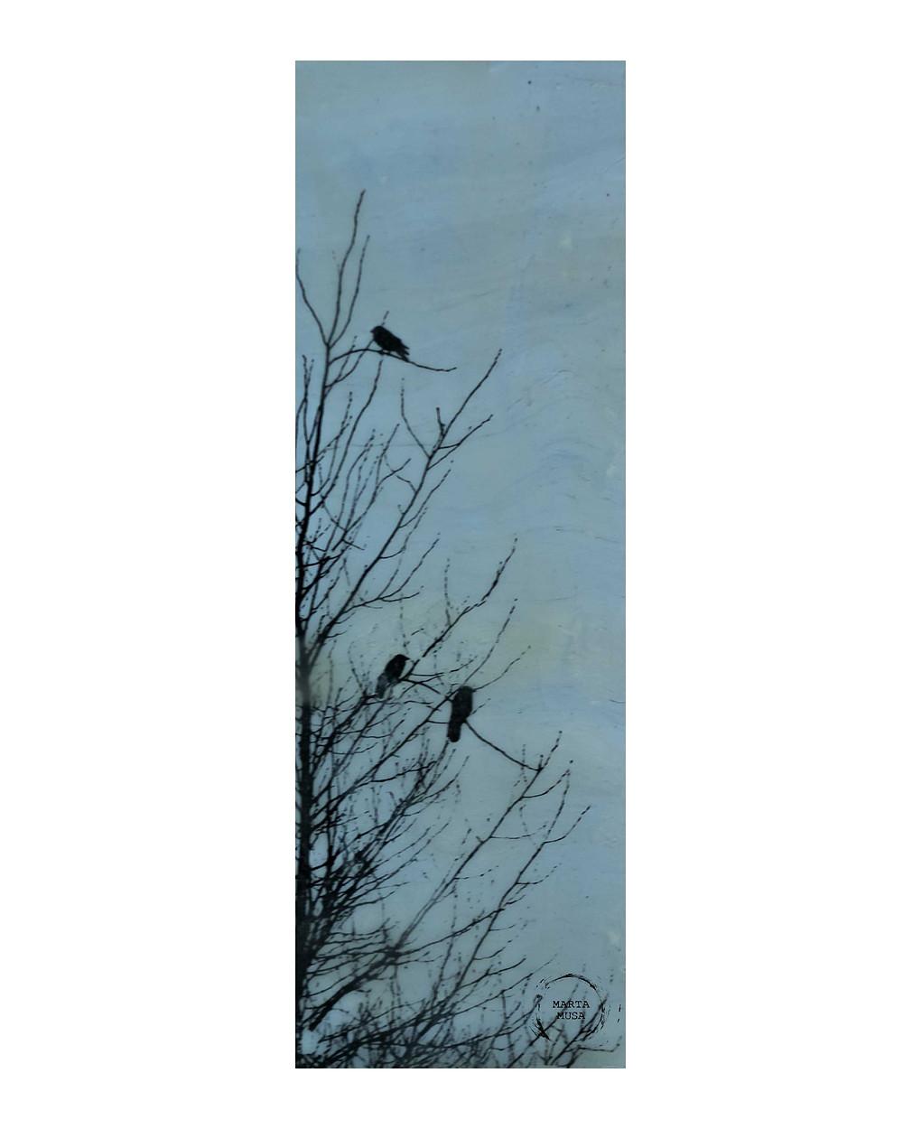 Crows of Still Creek 4 x 10 - $50