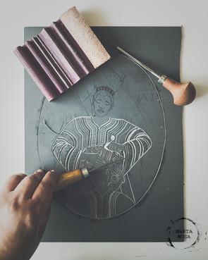 Printmaking & Cesaria Evora