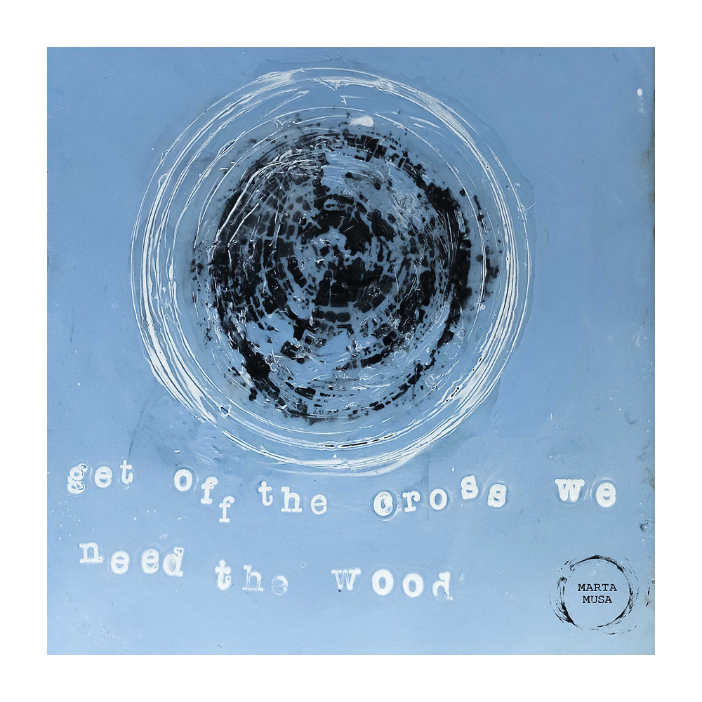Get off the Cross we need the wood 5 x 5 - $30