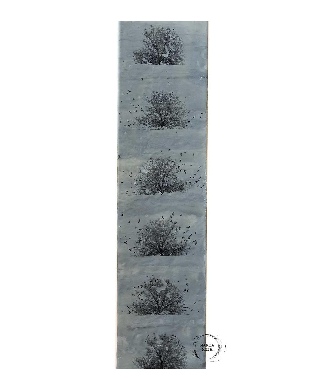 Crows of Still Creek 6 x 24 - $130